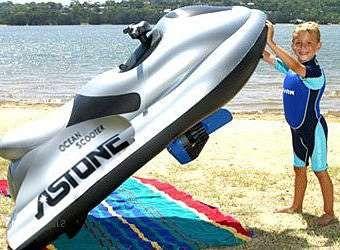 Надувные аттракционы, водные надувные скутеры.