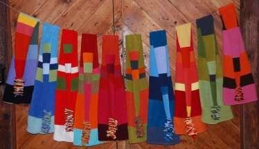 Оригинальные шапки-шарфы