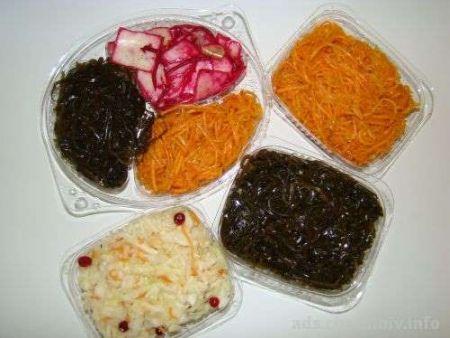 Продажа салатов, способы приготовления салатов.