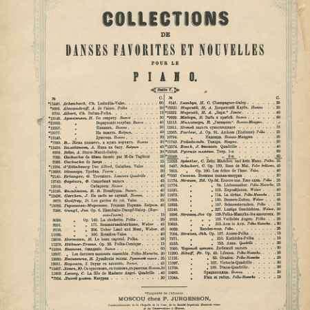 Купить Collections de danses favorites et nouvelles pour le piano