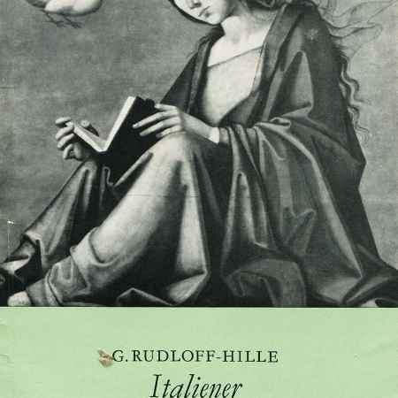 Купить G. Rudloff-Hille Italiener der Fruhrenaissance in der Dresdener Galerie