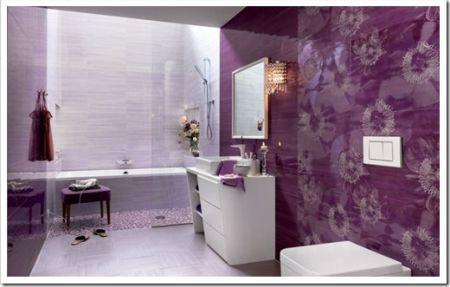 Красивый дизайн плитки в ванной комнате