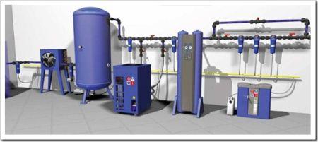 Стандартный очистительный блок сжатого воздуха