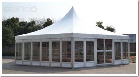 Различные конструктивные особенности шатров
