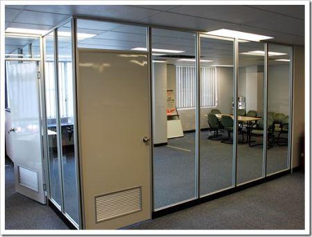 Самые популярные виды офисных перегородок